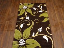 Modern Rugs Approx 5x2ft6 80cmx150cm Woven Thick best around Brown/Green Lily